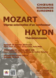 Mozart et Haydn par les par les Choeurs Résonances